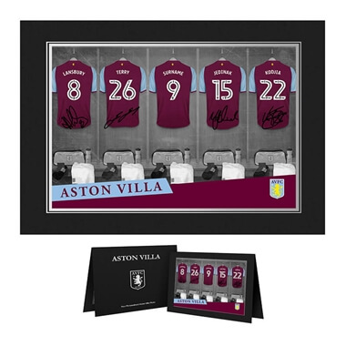 Personalised Aston Villa FC Dressing Room Photo Folder