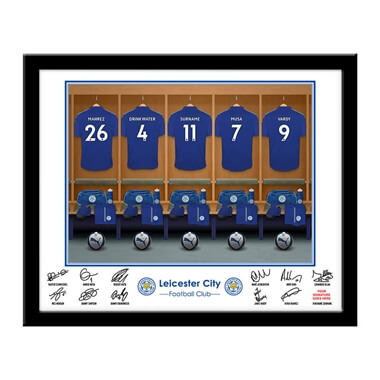 Personalised Leicester City Dressing Room Framed Print