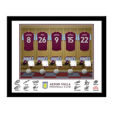 Personalised Aston Villa Dressing Room Framed Print