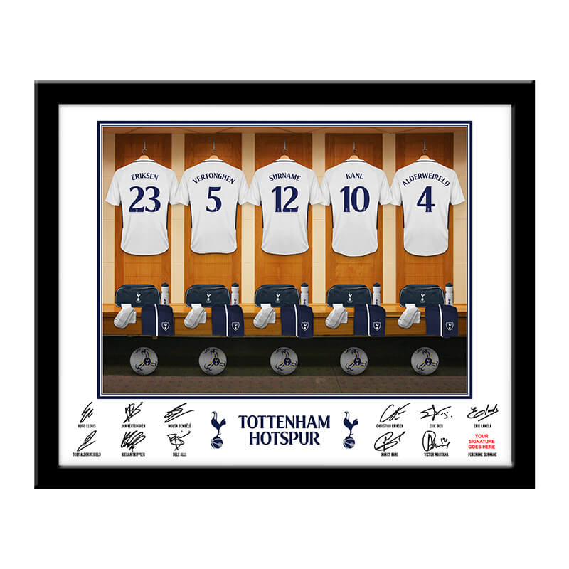 Personalised Tottenham Hotspur Dressing Room Framed Print