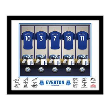 Personalised Everton Dressing Room Framed Print