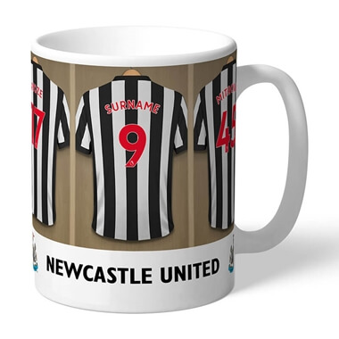 Personalised Newcastle United Dressing Room Mug