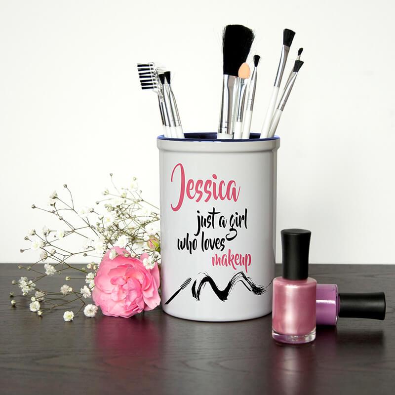 Personalised Make Up Brush Holder Buy From Prezzyboxcom