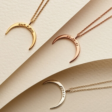 Personalised Crescent Necklace