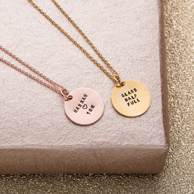 engraved love gifts necklace my spinning gift disc