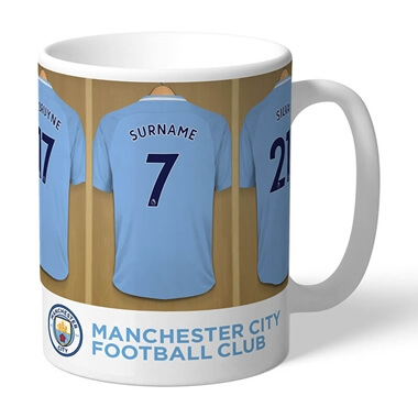 Personalised Dressing Room Mug - Man City
