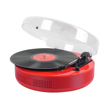 Steepletone 1960's Disc-Go Record Player - Red