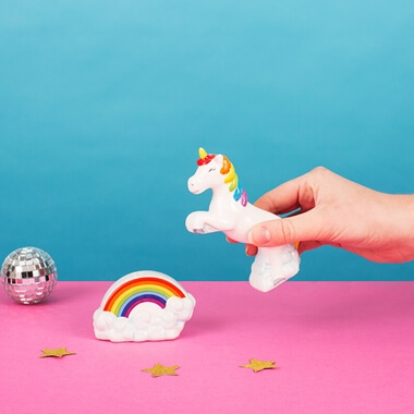 Unicorn On A Rainbow Salt And Pepper Set
