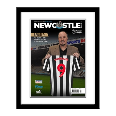 Personalised Newcastle United FC Magazine Cover Framed Print