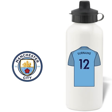 Personalised Manchester City FC Aluminium Water Bottle