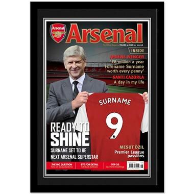 Personalised Arsenal FC Magazine Cover Framed Photo