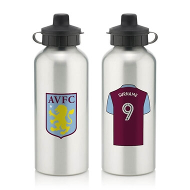 Personalised Aston Villa FC Water Bottle