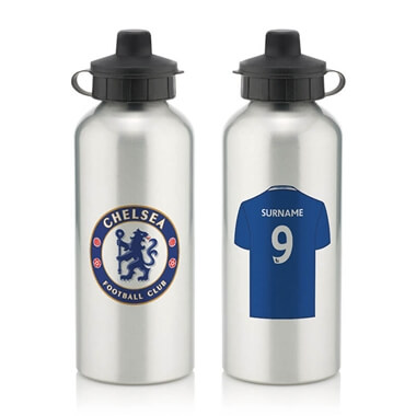Personalised Chelsea FC Aluminium Water Bottle