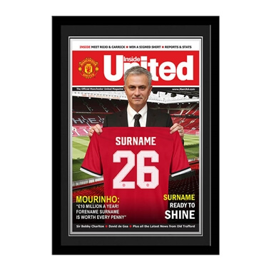 Personalised Manchester United FC Magazine Front Cover Framed Photo
