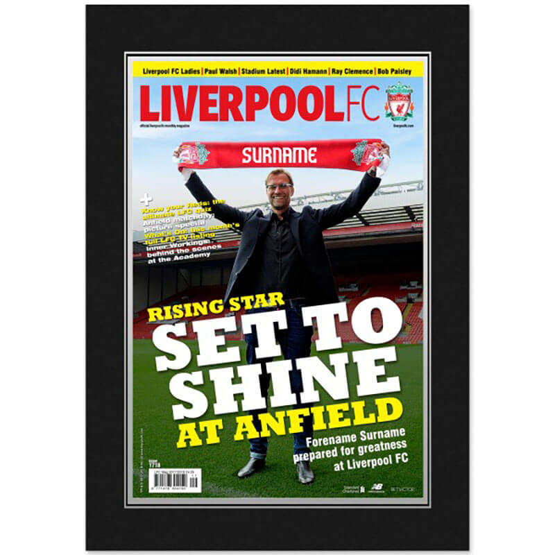 Personalised Liverpool FC Magazine Cover Framed Print