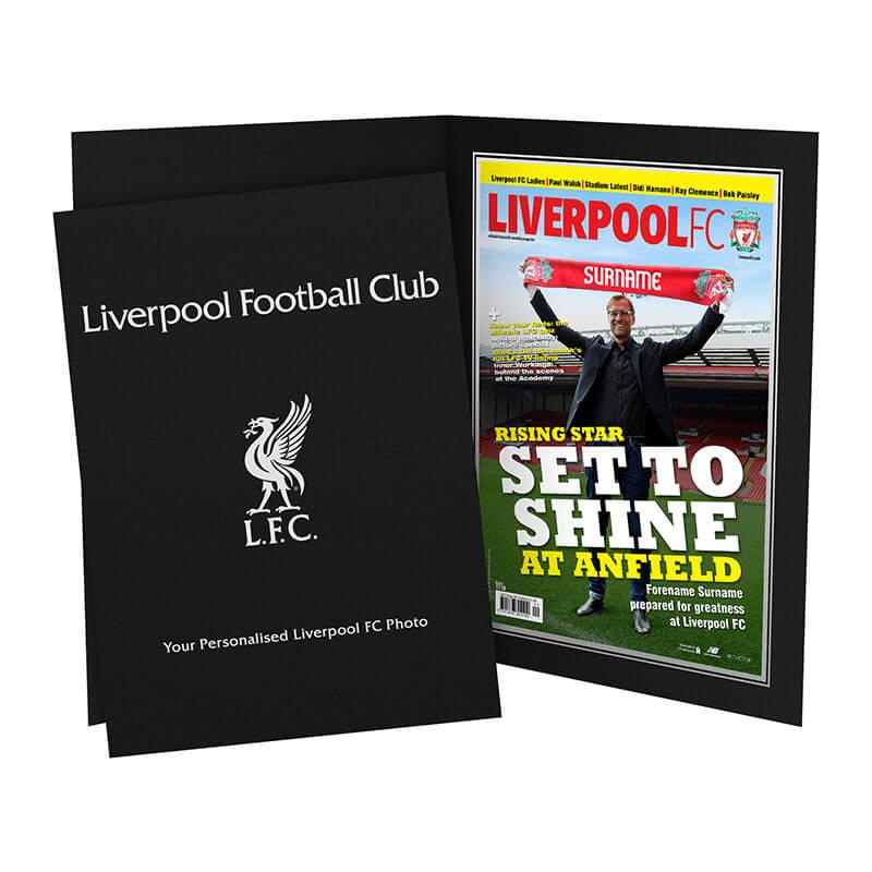 Personalised Liverpool FC Magazine Cover Photo Folder