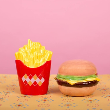 Burger And Chips Salt And Pepper Set