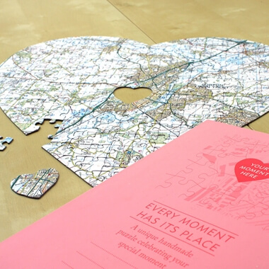 Personalised Heart Shaped Postcode Jigsaw