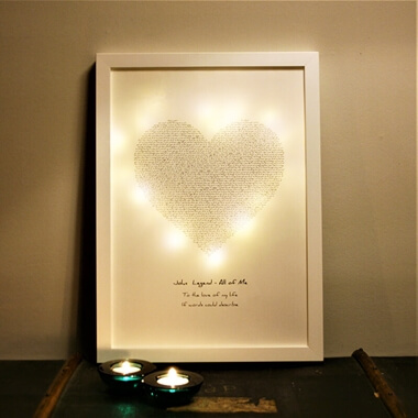 Personalised Your Song Light Box