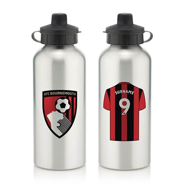 Personalised AFC Bournemouth Aluminium Water Bottle
