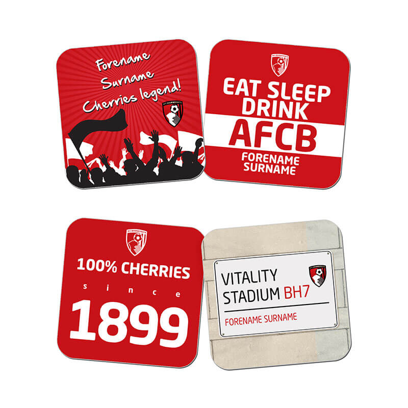 Personalised AFC Bournemouth Coasters