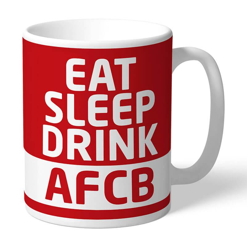 Personalised AFC Bournemouth Eat Sleep Drink Mug