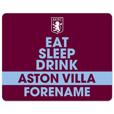 Personalised Aston Villa FC Eat Sleep Drink Mouse Mat