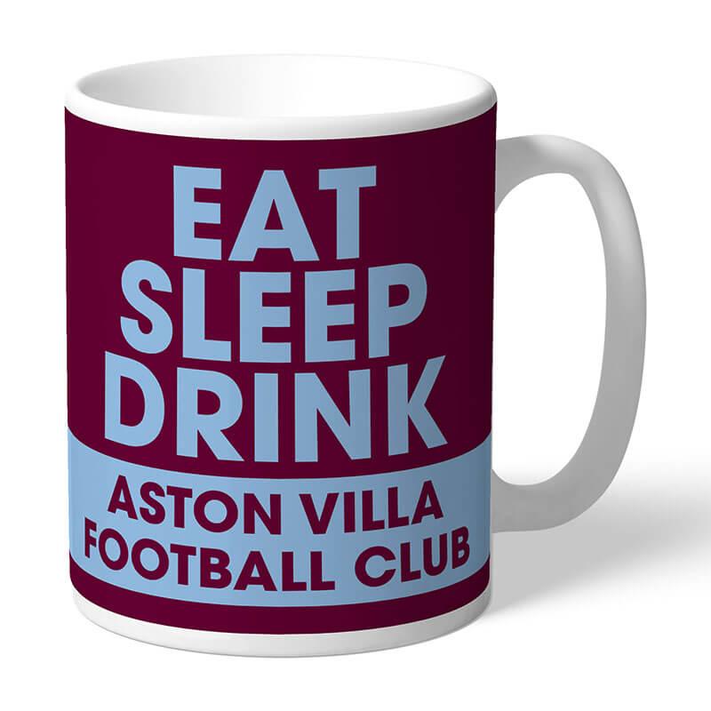 Personalised Aston Villa FC Eat Sleep Drink Mug