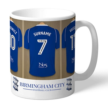 Personalised Birmingham City FC Dressing Room Mug
