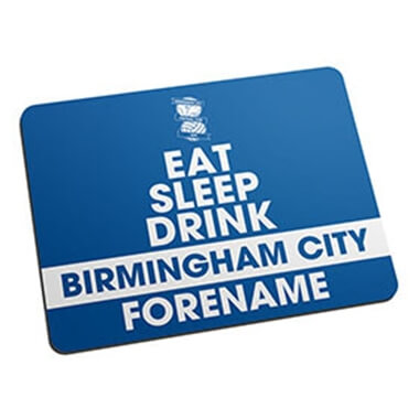 Personalised Birmingham City FC Eat Sleep Drink Mouse Mat