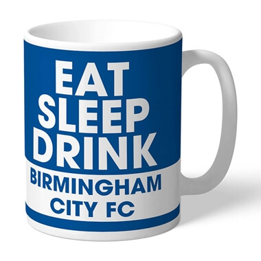 Personalised Birmingham City FC Eat Sleep Drink Mug