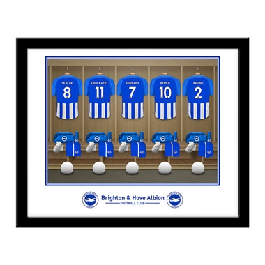 Personalised Brighton & Hove Albion FC Dressing Room Framed Photo