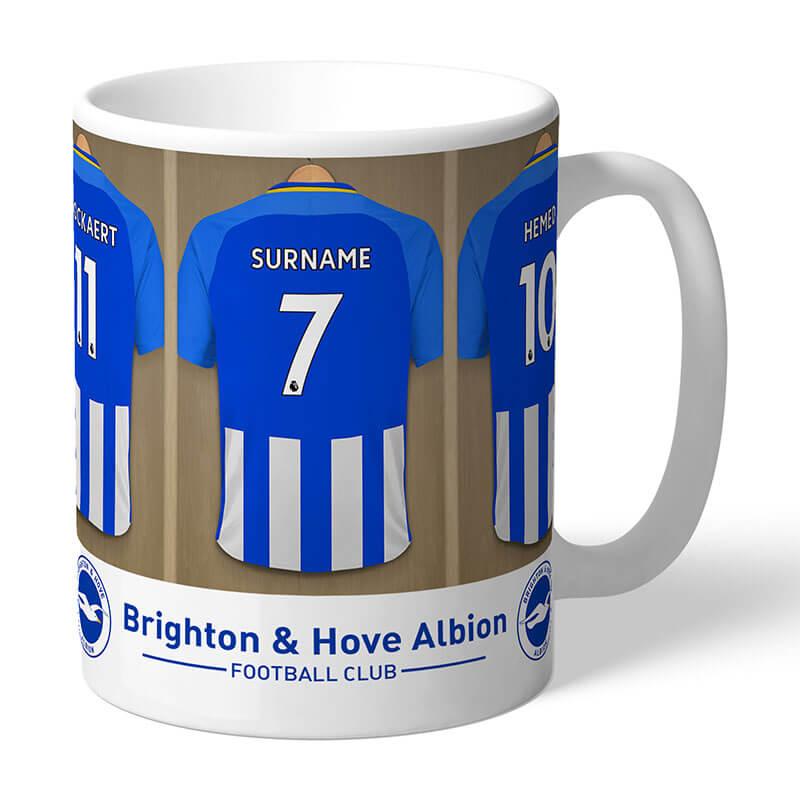Personalised Brighton & Hove Albion FC Dressing Room Mug