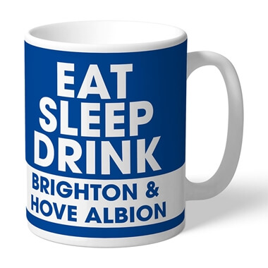 Personalised Brighton & Hove Albion FC Eat Sleep Drink Mug