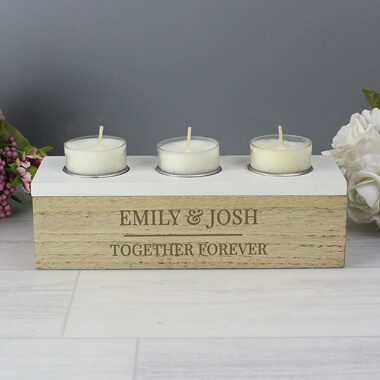 Personalised Tea Light Heart Candle Holder GRANDAD Birthday Father/'s Day Gift
