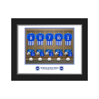 Personalised Brighton & Hove Albion FC Dressing Room Photo Folder