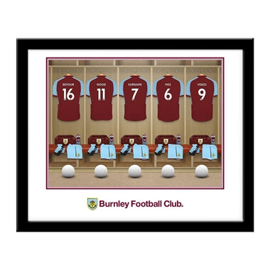Personalised Burnley FC Dressing Room Framed Print