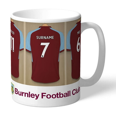 Personalised Burnley FC Dressing Room Mug