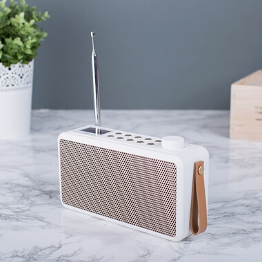Kreafunk tRadio Wireless Radio and Bluetooth Speaker - White