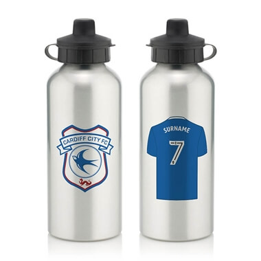 Personalised Cardiff City FC Aluminium Water Bottle