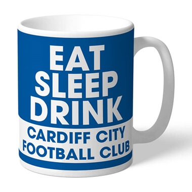 Personalised Cardiff City FC Eat Sleep Drink Mug