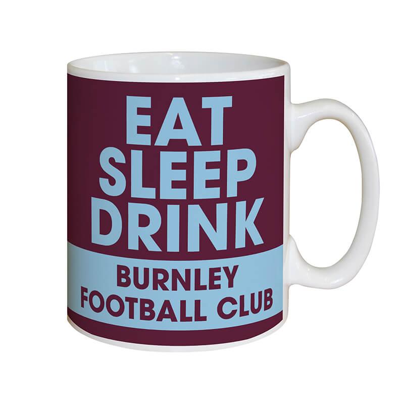 Personalised Burnley FC Eat Sleep Drink Mug