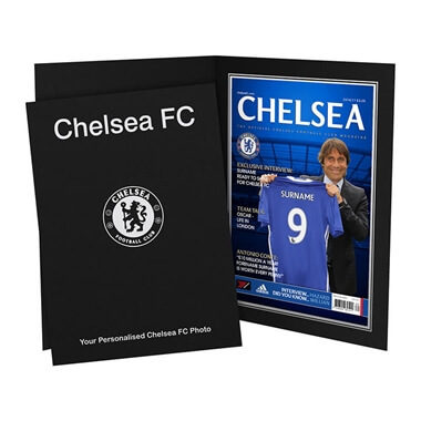 Personalised Chelsea FC Magazine Front Cover Photo Folder