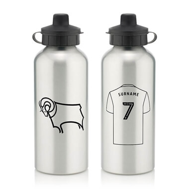 Personalised Derby County Aluminium Water Bottle