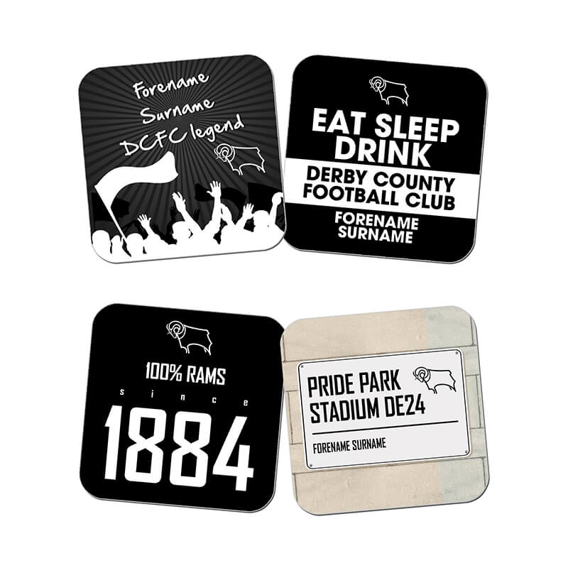 Personalised Derby County Coasters