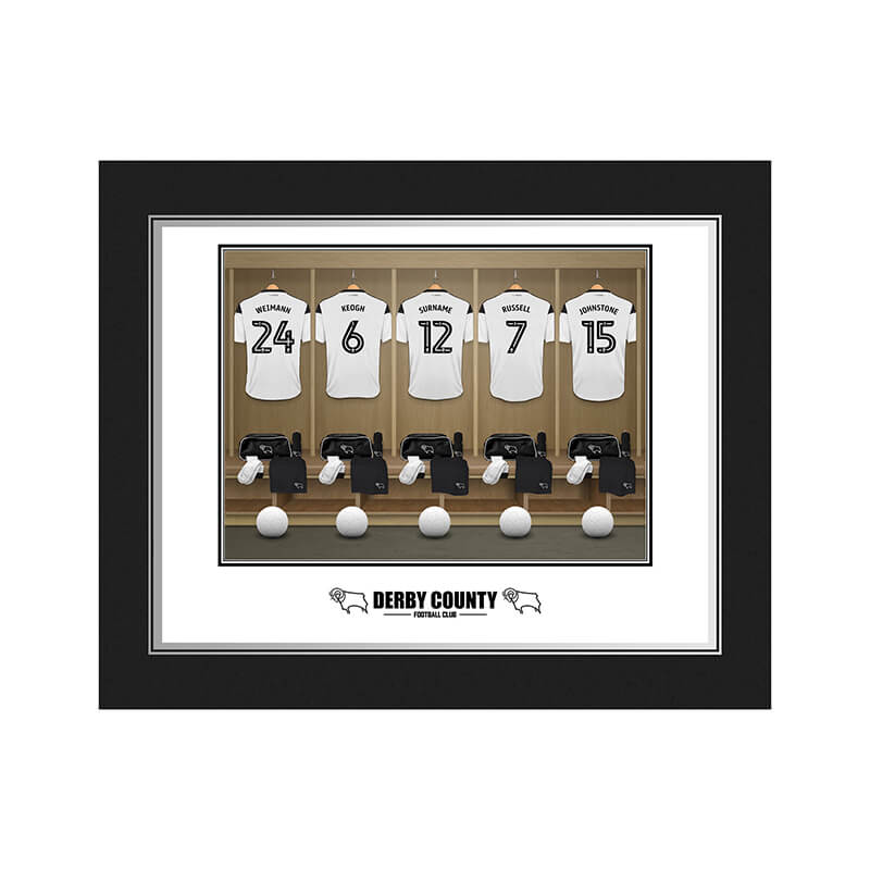 Personalised Derby County Dressing Room Photo Folder