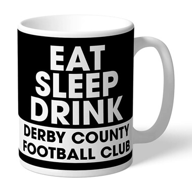 Personalised Derby County Eat Sleep Drink Mug