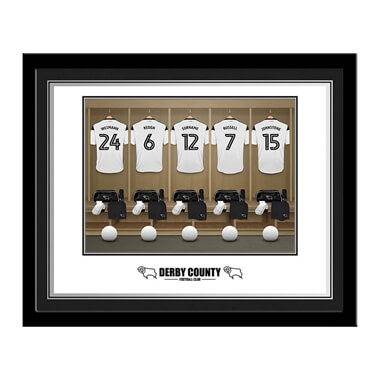 Personalised Derby County Dressing Room Photo Framed