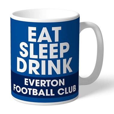 Personalised Everton FC Eat Sleep Drink Mug