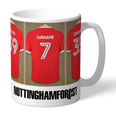 Personalised Nottingham Forest FC Dressing Room Mug